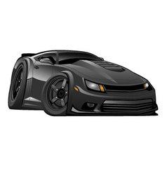 Black Modern American Muscle Car vector image