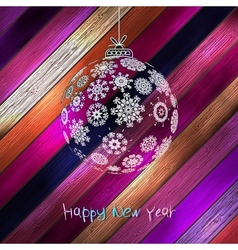 Christmas balls with place for your text EPS 10 vector image vector image