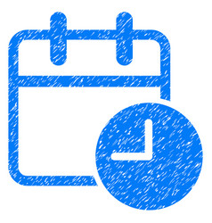 Date time grunge icon vector