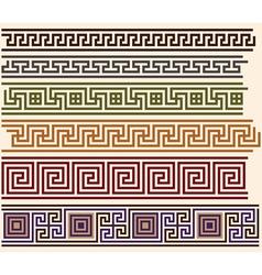 greek meanders vector image vector image