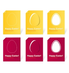 Happy Easter holiday cards set vector image