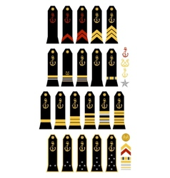 Insignia of the French Navy vector image vector image