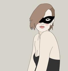 Masked Beautiful Girl vector image vector image