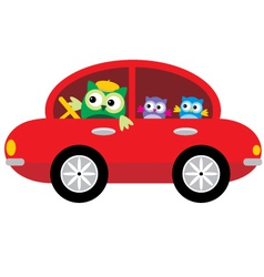 Owls Traveling By Car vector image