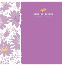 Purple shadow florals square torn frame seamless vector image vector image