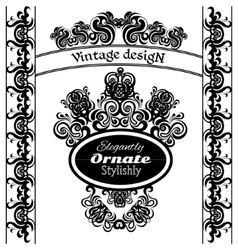 Vintage design elements on a white background vector image