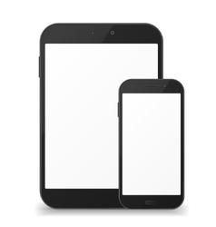 Black mobile phone fnd tablet vector image