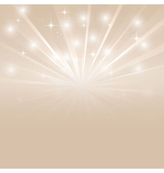 Bright sunburst with sparkles vector image