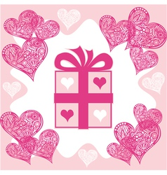 Present Valentines day vector image