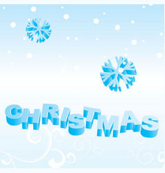 xmas text backdrop vector image vector image