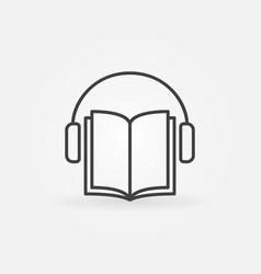 audiobook icon vector image vector image
