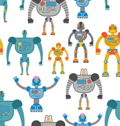 Cyborgs seamless pattern Background of lovely vector image vector image