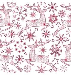 Jump deer seamless pattern vector image vector image