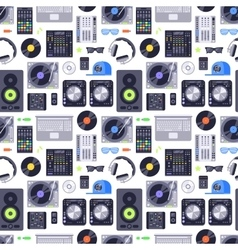 Music concept seamless pattern vector image