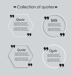 Quote blank template eps 10 set empty vector