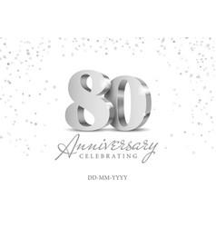 80 years anniversary celebration vector