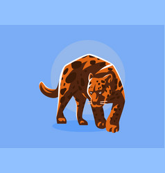 a panther or a leopard vector image