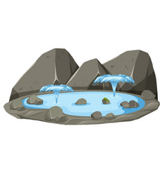 an isolated hot spring vector image