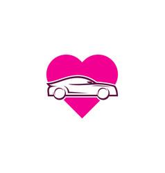 automotive love logo icon design vector image