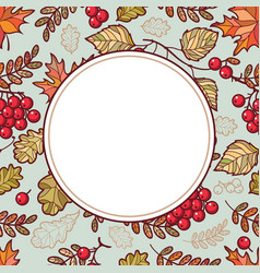Autumn leaf ornamental frame vector