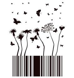 Barcode garden vector
