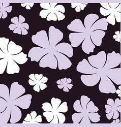 beautiful flowers decorative pattern isolated icon vector image