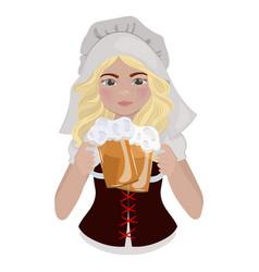 Beer girl saint patrick day cartoon vector