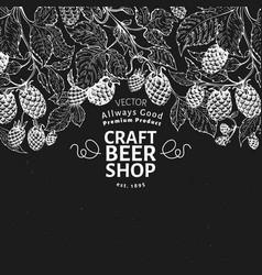 Beer hop design template retro beer background vector
