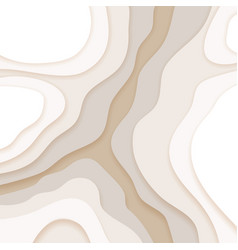 beige background in paper cut and craft style vector image