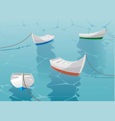 boats are laid up near the pier boat sailing in vector image