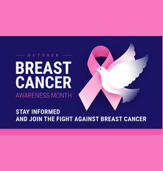 breast cancer awareness month october conceptual vector image