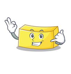 Call me butter mascot cartoon style vector