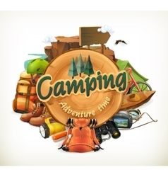 Camping adventure time vector