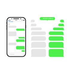 chat through bubble in phone chatbot in messenger vector image