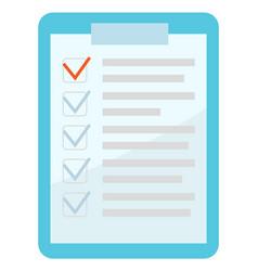 checklist icon paper board with note clipboard vector image