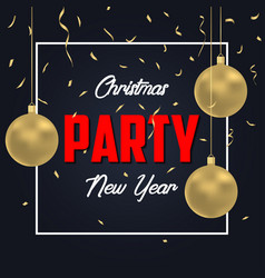 christmas party banner vector image