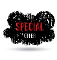 Cloud black special offer vector