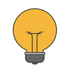 colorful silhouette of small light bulb vector image