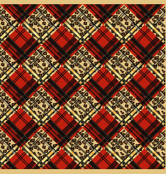 colorful tartan plaid fabric scotland kilt vector image