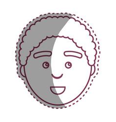 Contour man with facial expression design vector