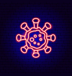 Coronavirus neon sign vector