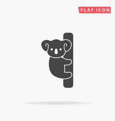 Cute koala on a tree vector
