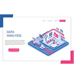Data analysis big analytics modern 3d vector
