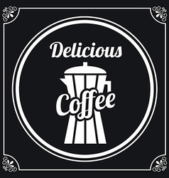 Delicious coffee vector