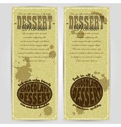 Dessert menu design rgb vector