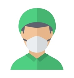 Doctor face vector image