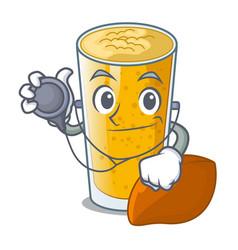 Doctor lassi mango in a cartoon glass vector