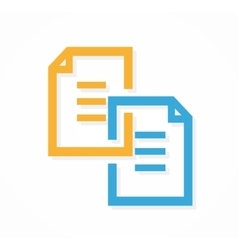 Document file logo vector