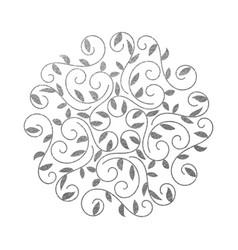 Elegant hand drawn flourish design template vector