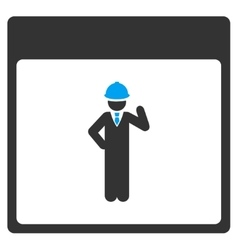 Engineer Calendar Page Toolbar Icon vector